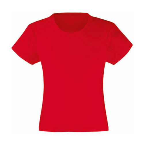 Tee-shirt Fille rouge